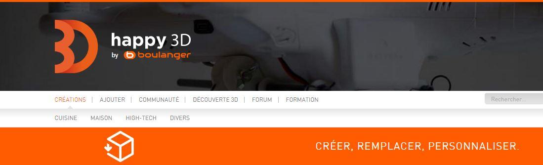 Plattform happy3D für Ersatzteile gestartet