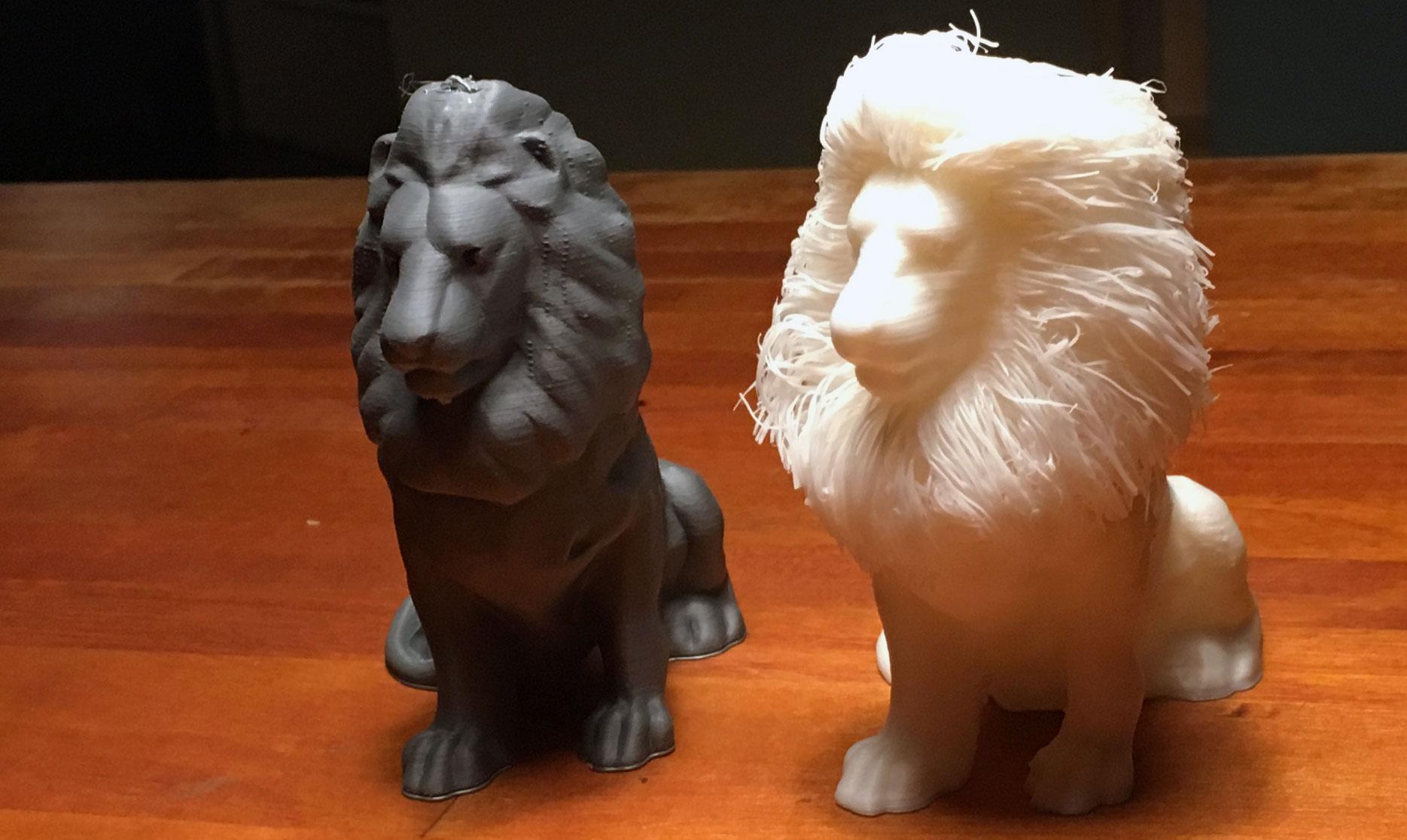 Hairy Lion gedruckt mit Pearl Bio-Filament