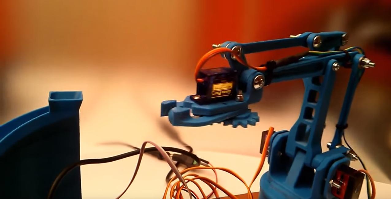 Heute bei Thingiverse: Roboterarm zum ausdrucken   DAS 3D NETZWERK