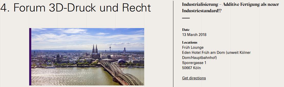 """""""4. Forum 3D-Druck und Recht"""" von 3D-Mitglied """"DWF Germany"""""""