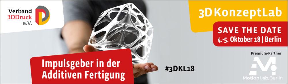 """Netzwerk-Mitglied """"Verband 3DDruck"""" lädt zum 3DKonzeptLab nach Berlin ein"""