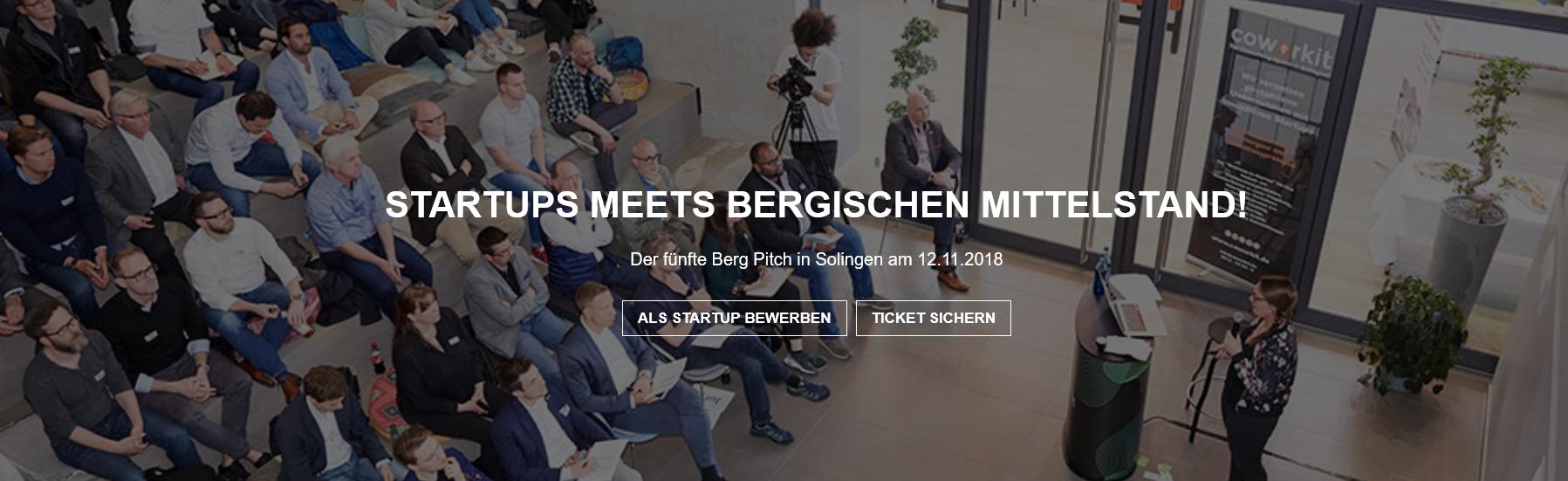 Bewerbung bis 21.10.18: Berg-Pitch in Solingen lockt Startups mit Preisgeldern und Stipendien