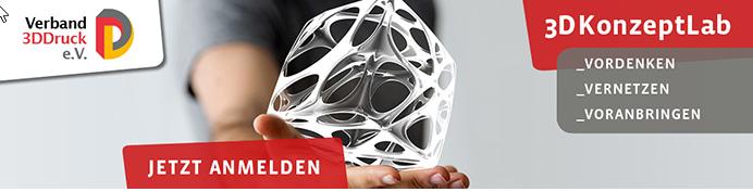3DKonzeptLab 2019: Netzwerk-Mitglied Verband 3DDruck lädt ein