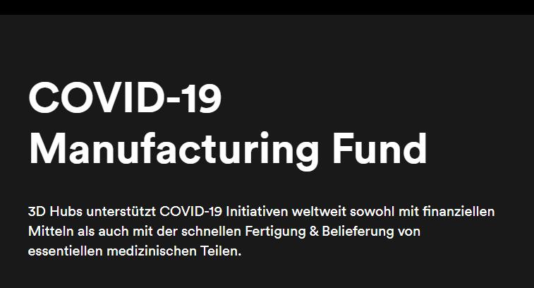 3D Hubs stellt Fonds zur Fertigung kritischer Teile für COVID-19-Initiativen bereit
