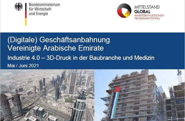 3D-Netzwerk neuer Kooperationspartner im Bereich Industrie 4.0 – 3D-Druck in der Baubranche und Medizin