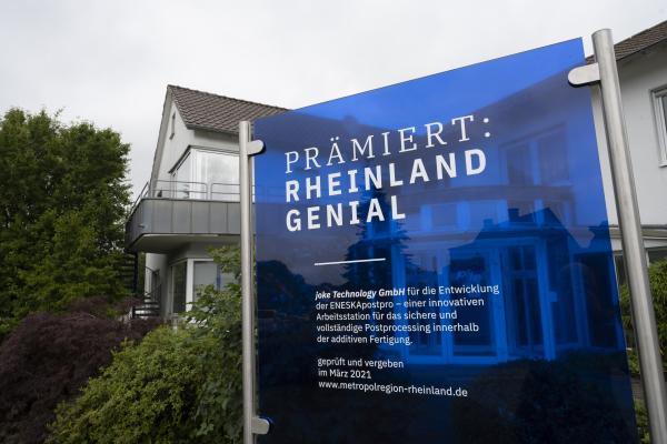 3D-Netzwerk Mitglieder mit dem Innovationspreis RHEINLAND GENIAL ausgezeichnet